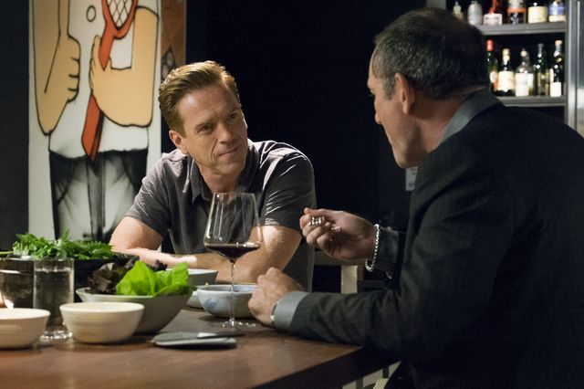 "Billions  Season 02 Episode 05 Currency Damian Lewis as Bobby ""Axe"" Axelrod Ritchie Coster as Donald Thayer ©2017 CBS Studios Inc"