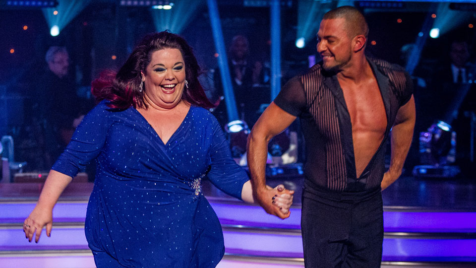 Lisa Riley and Robin Windsor on Strictly launch show