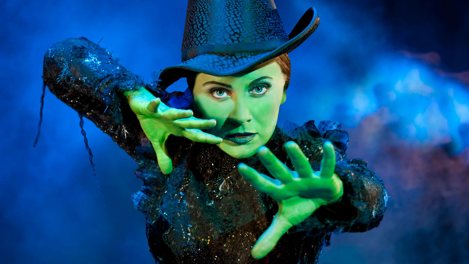 Louise Dearman as Elphaba in Wicked