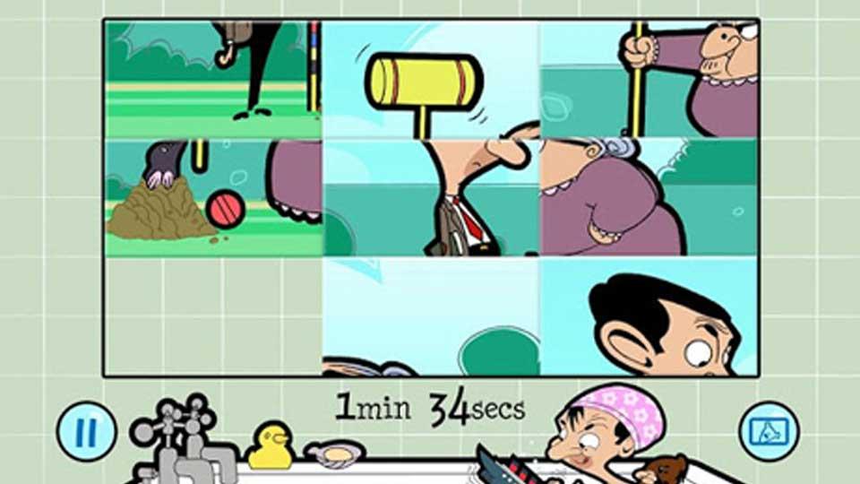 Mr Bean Slider Puzzle