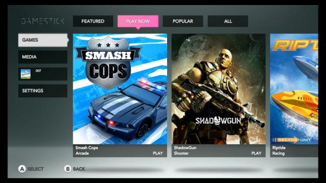 2 UI - GameStick Play Now