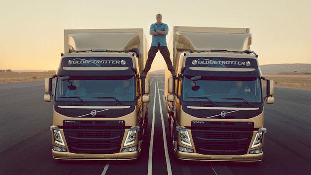 Jean-Claude Van Damme in Volvo Trucks stunt