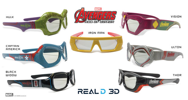 Avengers: Age of Ultron RealD 3D glasses