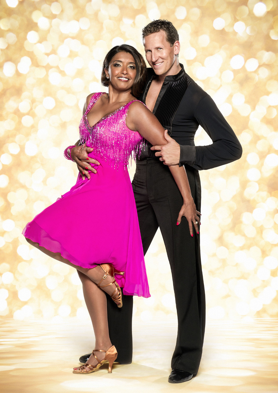 Sunetra Sarker and Brendan Cole