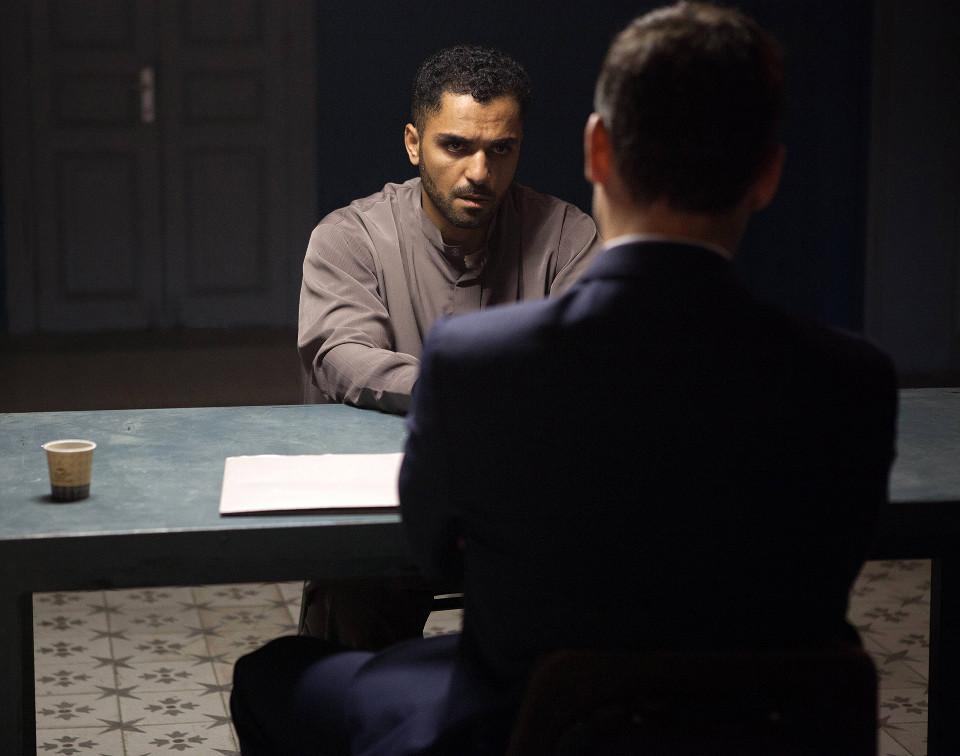 TYRANT Adam Rayner as Barry and Sammy Sheik as Hamid in TYRANT