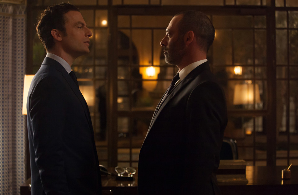 TYRANT Justin Kirk as John and Ashraf Barhom as Jamal in Tyrant