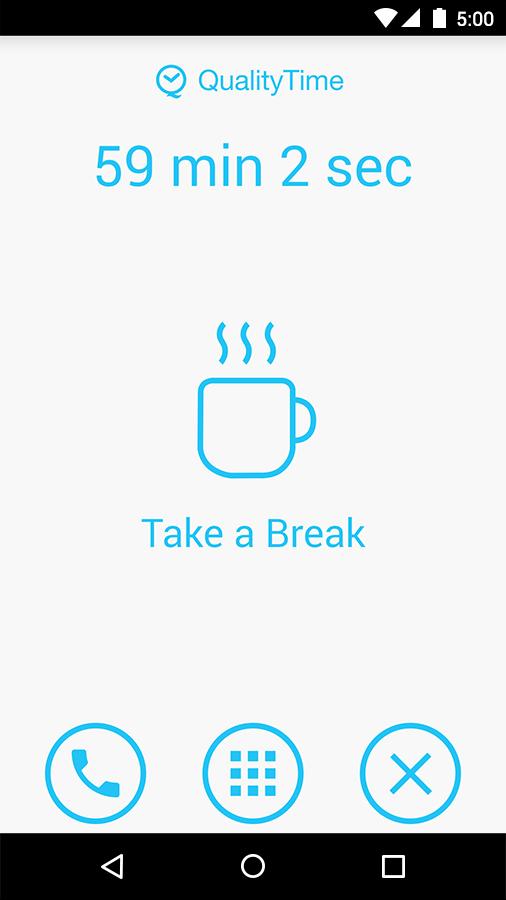 Take a Break lockscreen