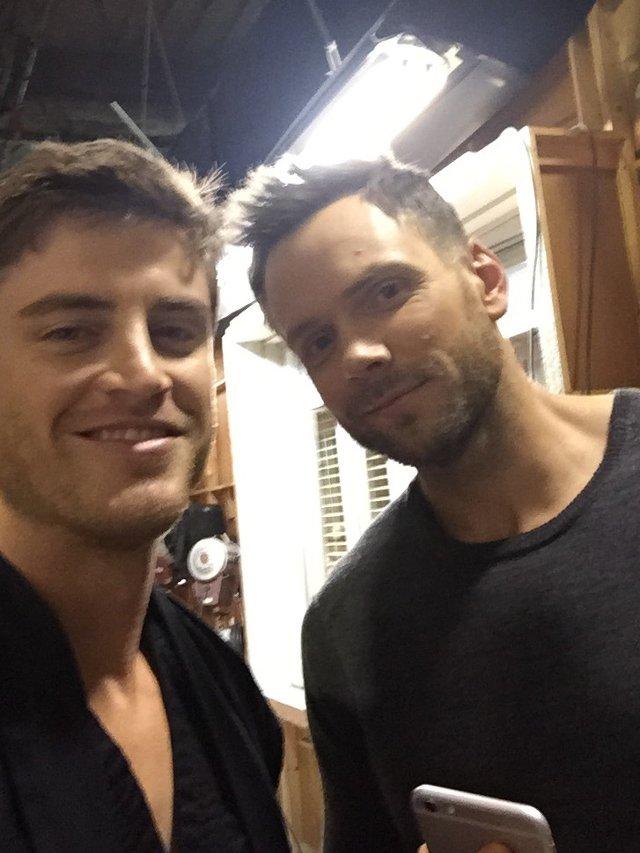 Jake Lockett and Joel Hale