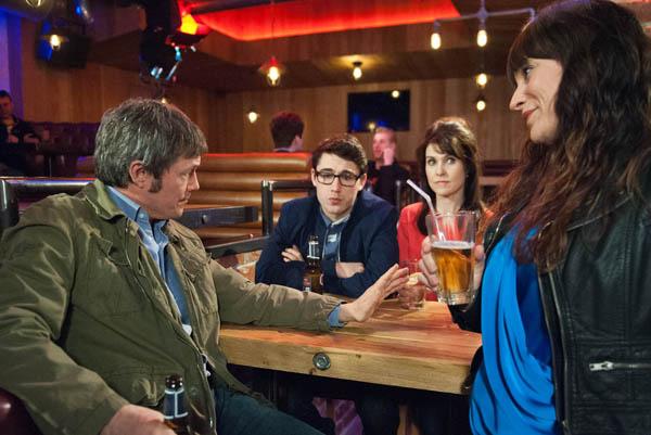 Chas Dingle, James, Emma & Finn Barton, Emmerdale