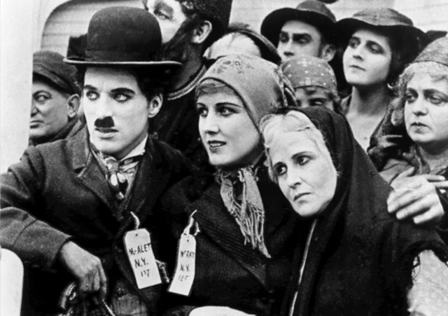 Charles Chaplin and Edna Purviance in The Immigrant, 1917. Photo: BFI.