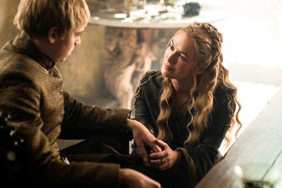 "Episode 7 ""The Gift"". Chapman, Dean-Charles;Headey, Lena as Tommen Baratheon;Cersei Lannister"
