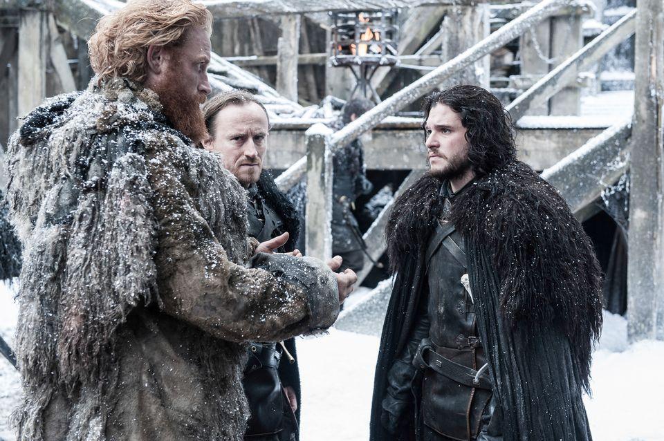 "Episode 7 ""The Gift"". Hivju, Kristofer;Harington, Kit as Tormund;Jon Snow"