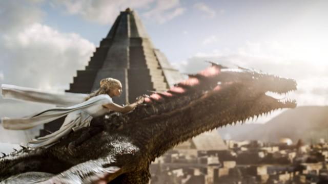 Game of Thrones,Series 5,Episode 9,The Dance of Dragons Clarke, Emilia as Daenerys Targaryen. Drogon