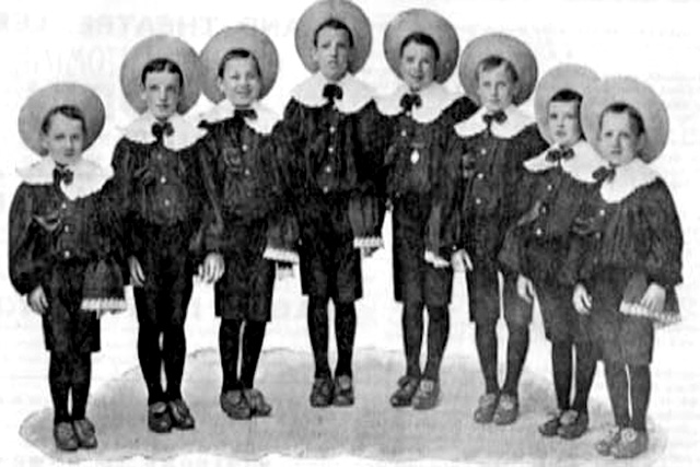 Charles Chaplin (second left) as part of The Eight Lancashire Lads, who appeared at Leeds City Varieties.