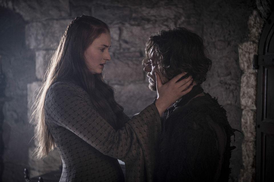"Games of Thrones, Sky Atlantic, Series 5 Episode 8 ""Hardhome"" Turner, Sophie;Allen, Alfie Character Display: Sansa Stark, Theon Greyjoy"