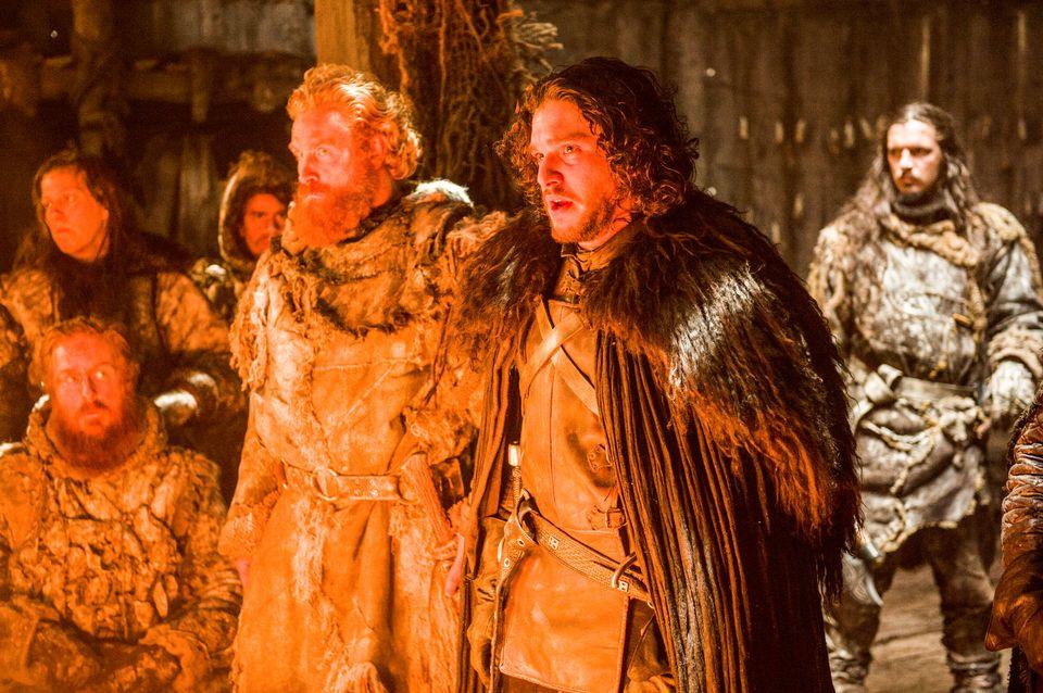 Game of Thrones. Series 5. Episode 8. Hardhome. Hivju, Kristofer;Harington, Kit as Tormund;Jon Snow