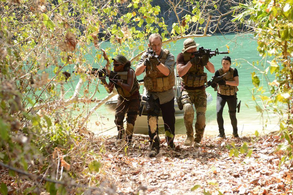 Miluana Jackson as Kim Martinez; Philip Winchester as Sgt. Michael Stonebridge; Robson Green as Lt. Col Philip Locke