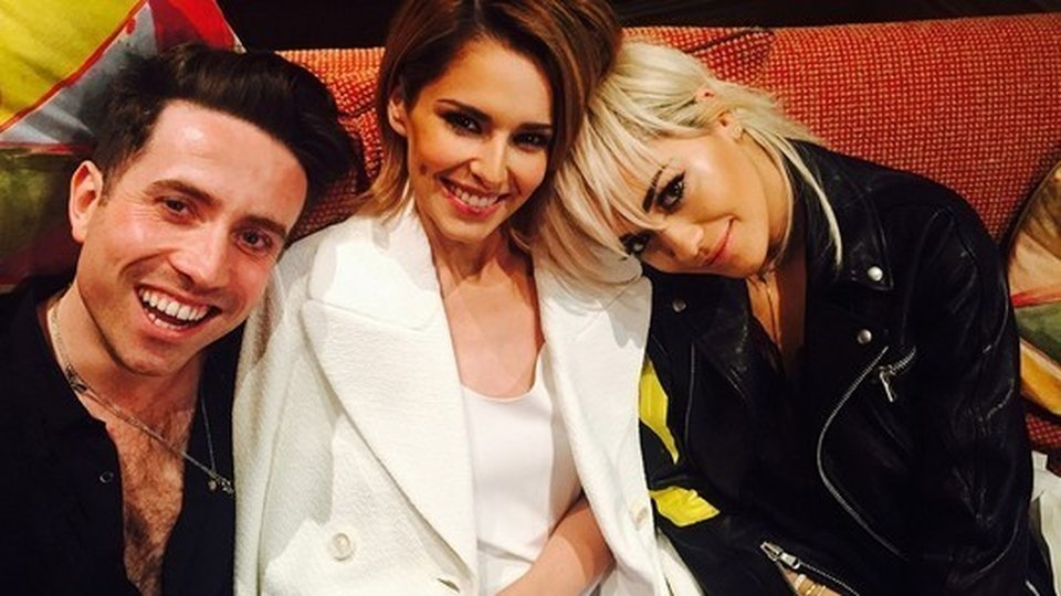 Nick Grimshaw, Cheryl and Rita Ora