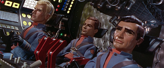 The crew of the fated Zero-X in Thunderbirds Are Go (1966). Photo: Fabulous Films.