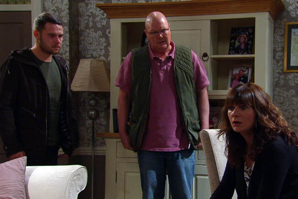 Aaron, Paddy & Chas Dingle, Emmerdale