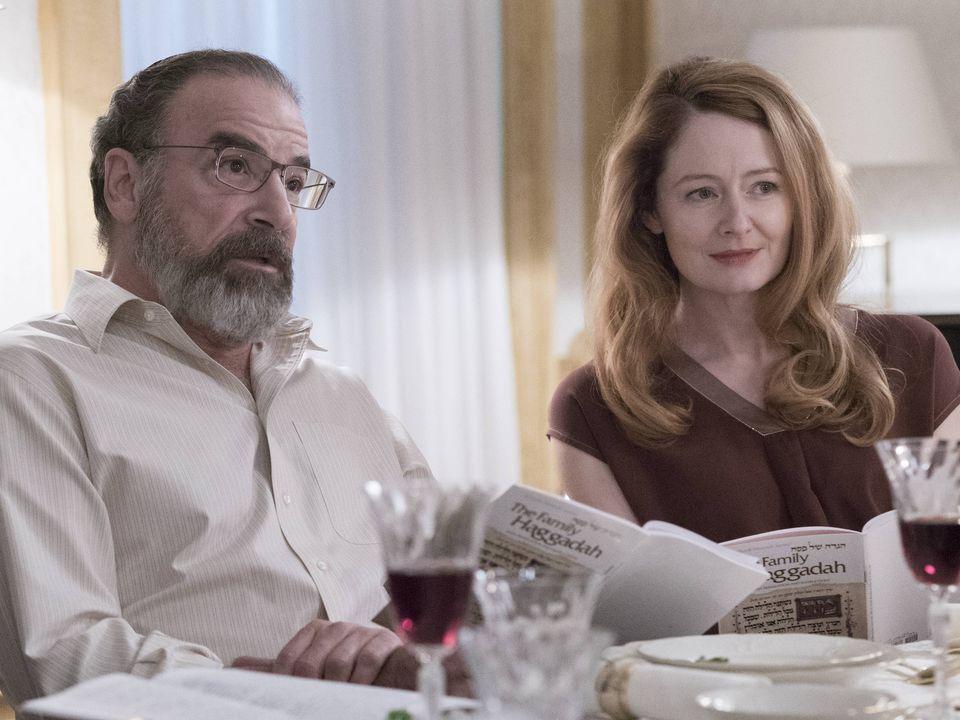 Credit: Stephan Rabold/SHOWTIME - Mandy Patinkin as Saul Berenson and Miranda Otto as Allison Carr