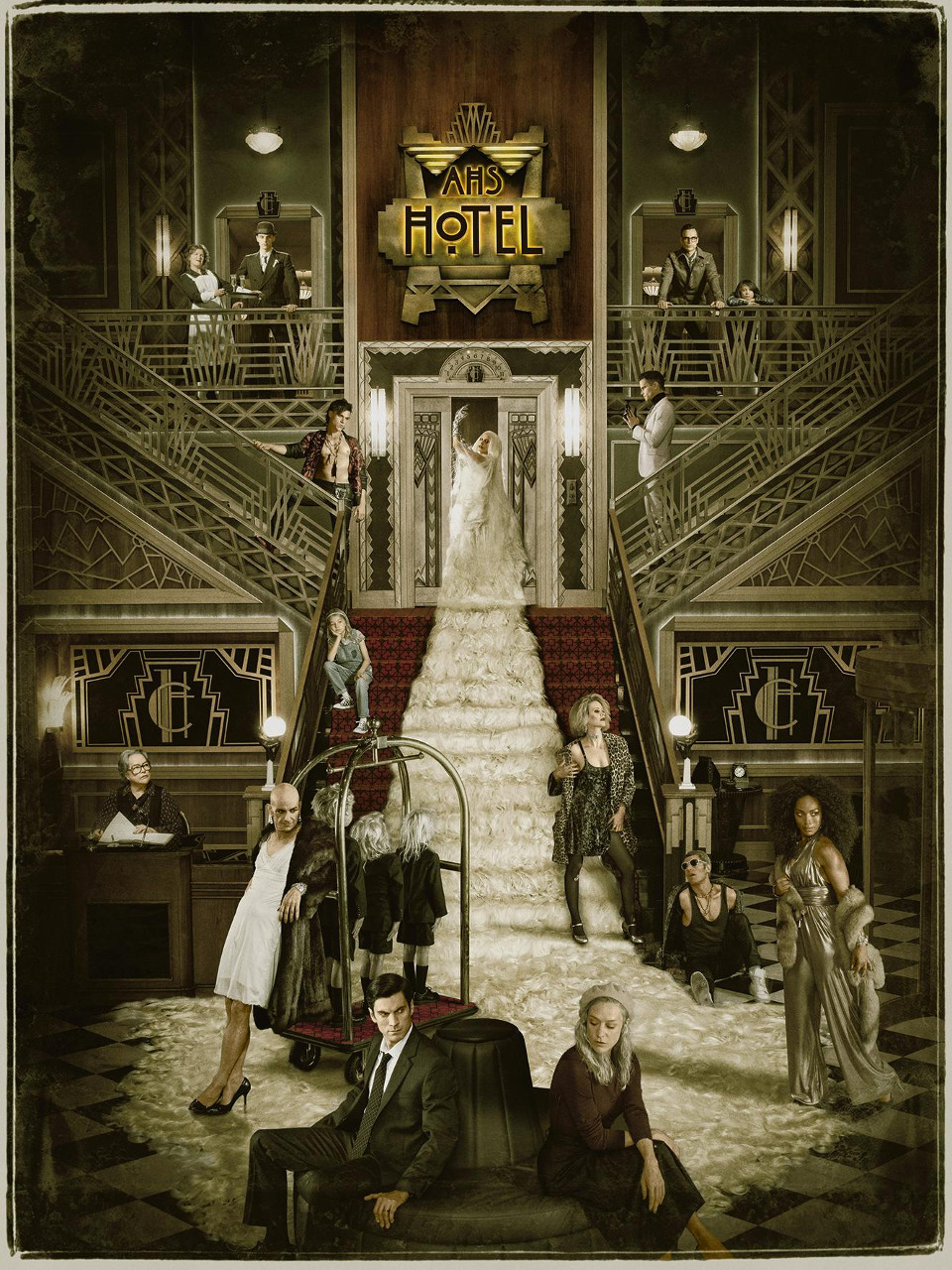 American Horror Story: HotelKey art featuring cast