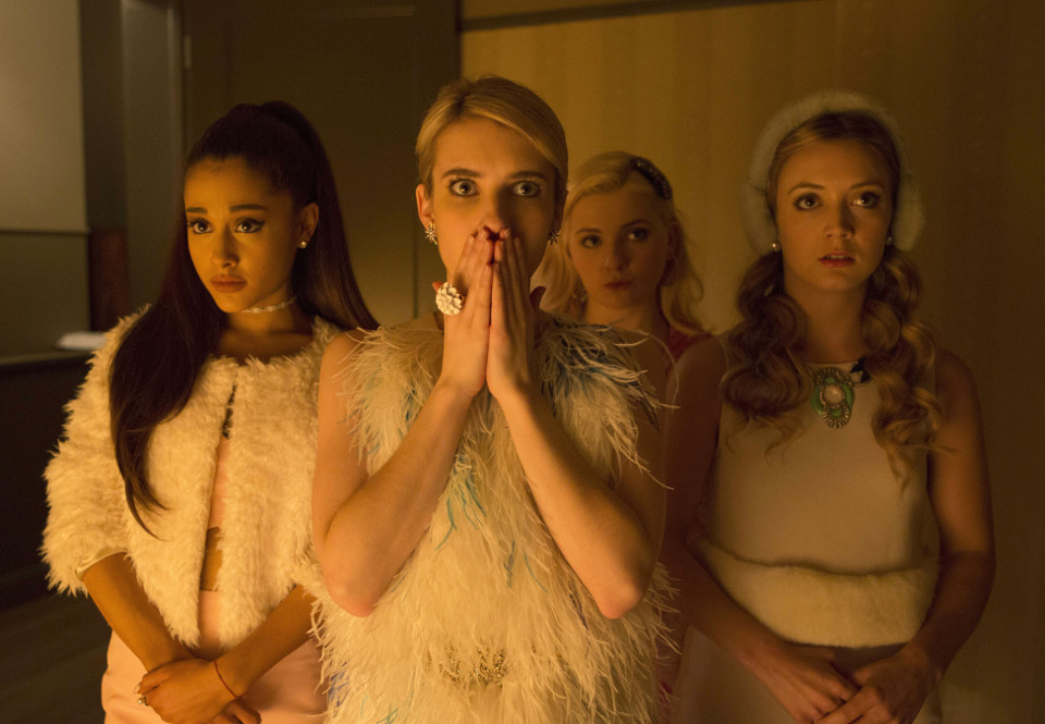 L-R: Ariana Grande, Emma Roberts, Abigail Breslin and Billie Lourd