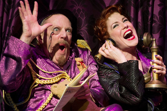 Don Gallagher as Baron Bomburst with Tamsin Carroll as Baroness Bomburst. Photo: Anthony Robling.