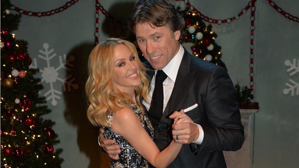 Kylie Minogue and John Bishop