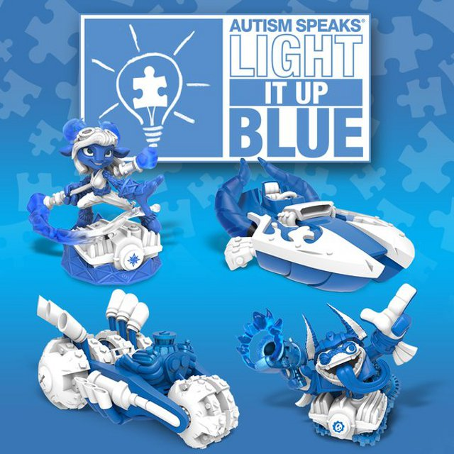 Skylanders Autism Speaks Light it up Blue