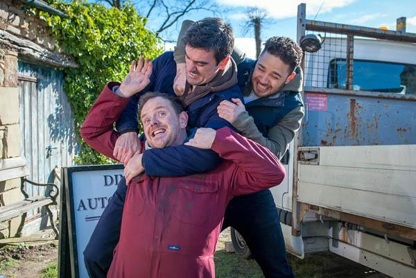 Dan, Cain and Adam Barton, Emmerdale