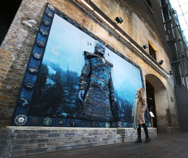 Large scale embroidery displayed to launch Game of Thrones Fifth Season on Blu-ray and DVD, London, UK, 18th March 2016