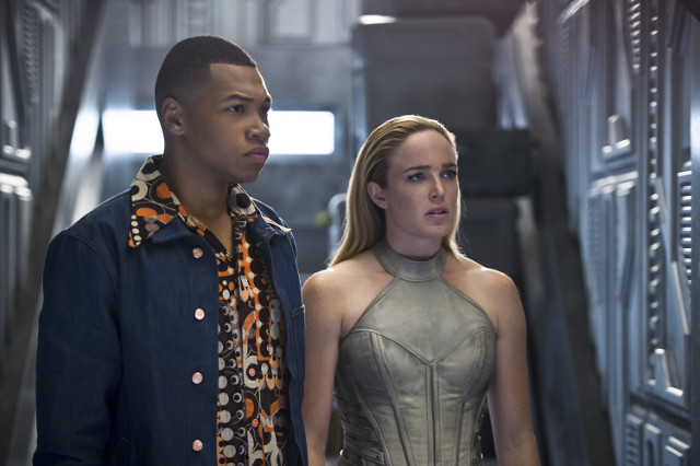 Franz Drameh as Jeff Jackson and Caity Lotz as Sara Lance / White Canary.