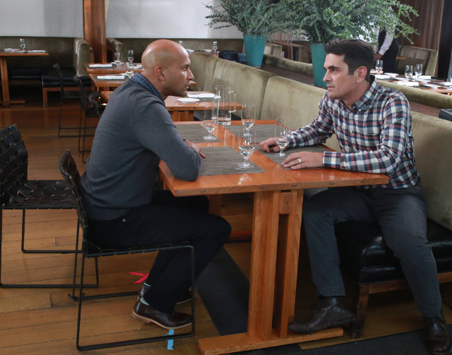 "(L-R): Tom (Keegan-Michael Key) and Phil (Ty Burrell) in ""Playdates."""