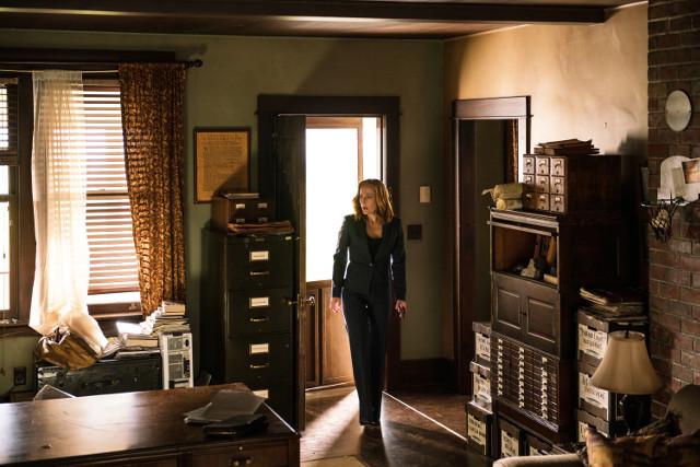 (L-R): Dana Scully (Gillian Anderson)