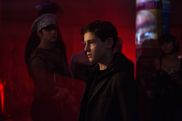 "David Mazouz as Bruce Wayne.Gotham 2, ep. 14 ""This Ball of Mud and Meanness"""