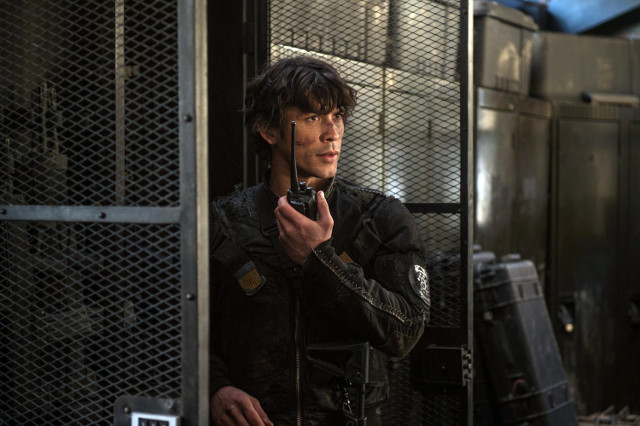"Bob Morley as Bellamy.  The 100 3, ep. 12 ""Demons"""