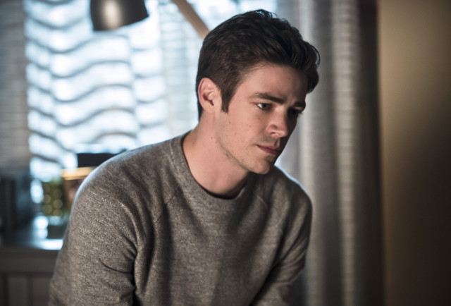 Grant Gustin as The Flash / Barry Allen.