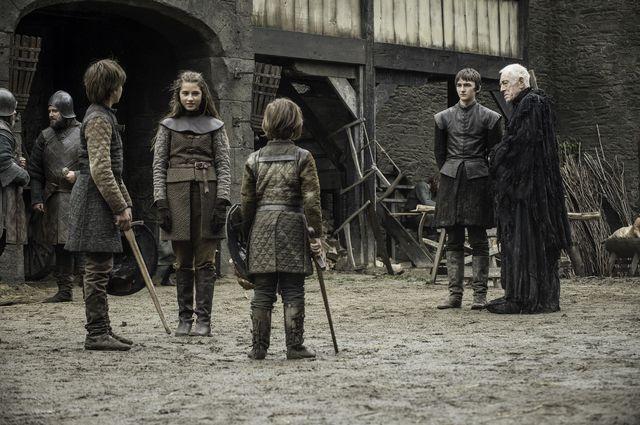 © HBO - Sebastian Croft, Cordelia Hill, Matteo Elezi, Isaac Hempstead Wright, Max von Sydow as Young Ned Stark;Young Lyanna Stark;Young Benjen Stark;Bran Stark;Three-Eyed Raven