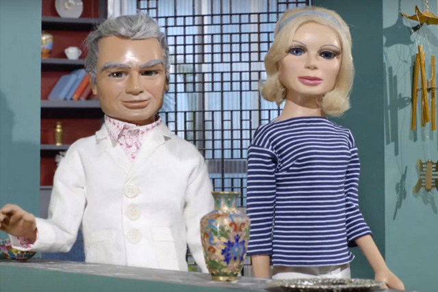 Jeff Tracy and Lady Penelope in Introducing Thunderbirds. Credit: Pod 4 Films Ltd & ITC Entertainment Group