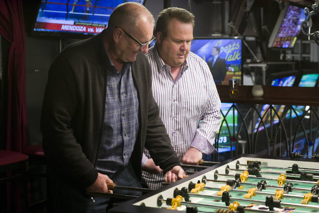 """(L-R): Jay (Ed O'Neill) and Cameron (Eric Stonestreet) in """"The Party."""""""
