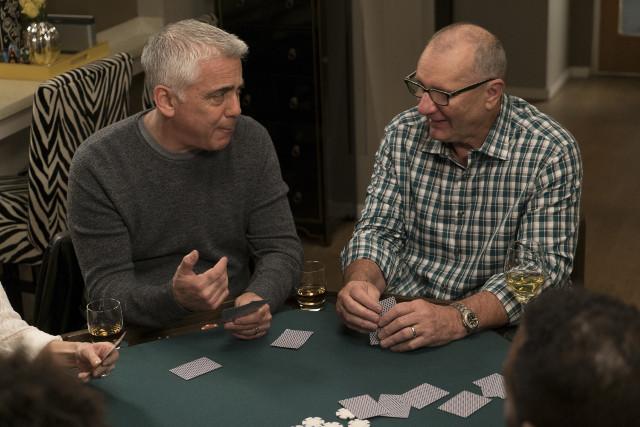 "(L-R): Reece (Adam Arkin) and Jay (Ed O'Neill) in ""Man Shouldn't Lie."""