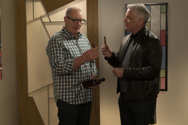 "(L-R): Jay (Ed O'Neill) and Reece (Adam Arkin) in ""Man Shouldn't Lie."""