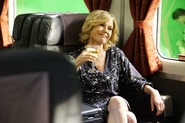 "Claire (Julie Bowen) in ""Crazy Train."""