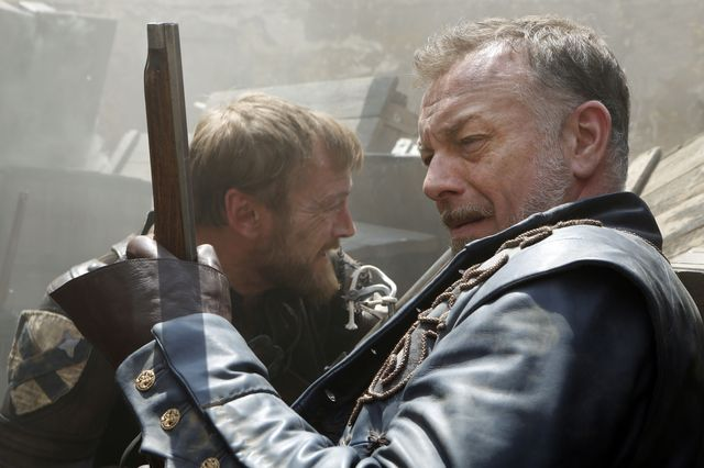 © BBC/Dusan Martincek - Captain Marcheaux (MATT STOKOE), Captain Treville (HUGO SPEER)