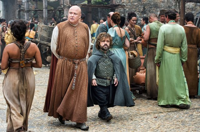 © HBO - Conleth Hill as Varys, Peter Dinklage as Tyrion Lannister