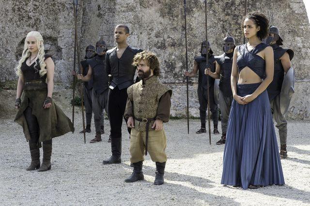 © HBO - Emilia Clarke as Daenerys, Peter Dinklage as Tyrion Lannister, Nathalie Emmanuel as Missandei
