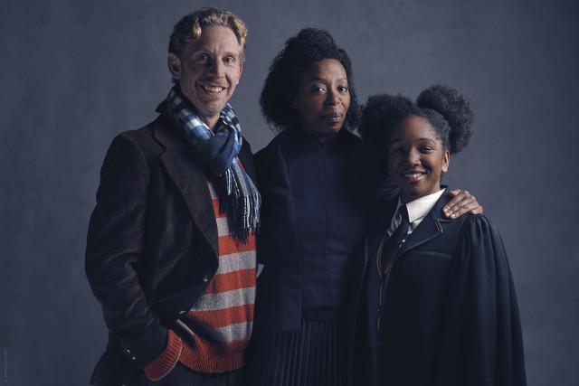 l-r Ron Weasley (Paul Thornley), Hermione Granger (Noma Dumezweni), Rose Granger-Weasley (Cherrelle Skeete). Photo credit Charlie Gray