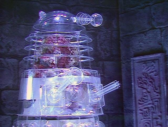 Body horror: Arthur Stengos becomes a Dalek. Photo: BBC
