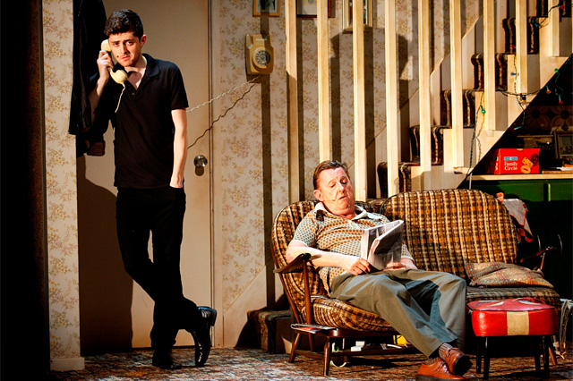 Andrew Linnie and Kevin Kennedy in The Commitments. Photo: Johan Persson.